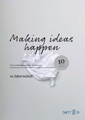 tech2b 10 Jahres Festschrift