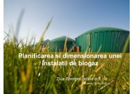 Planificarea si dimensionarea unei instalatii de biogaz - Ziua Energiei