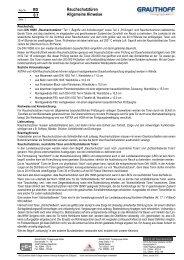 RD 0.1 Rauchschutztüren Allgemeine Hinweise - Grauthoff