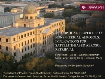 the optical properties of nonspherical aerosols: implications for ... - IUP