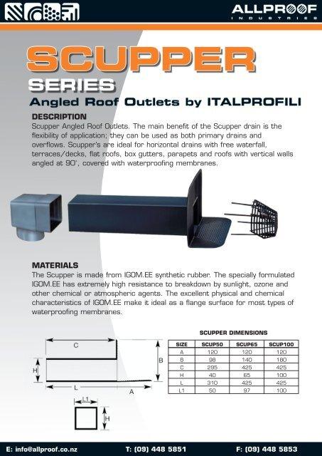 ScupperSideOutletDrains pdf 1 6 MB - Terracon Industries Ltd