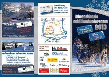Schlittenhunderennen 2013 - Gemeinde Todtmoos