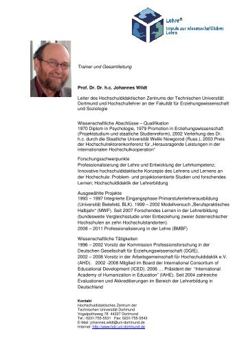 Prof. Dr. Johannes Wildt