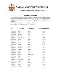 Spring 2006-2007 (PDF Format) - American University of Beirut