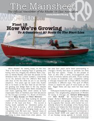 The Mainsheet, Winter 2008 - the Rhodes 19 Class Association