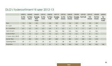 fodersortiment til søer i 2012/2013 - dlg