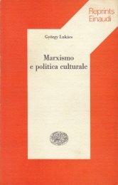 Marxismo e politica culturale