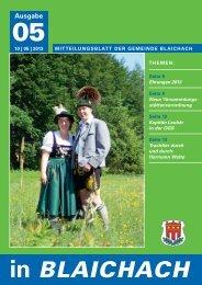 Mai 2013 - Gemeinde Blaichach