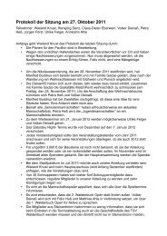 Protokoll der Sitzung am 27. Oktober 2011