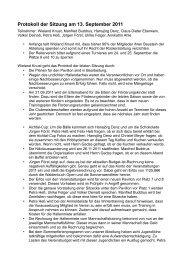 Protokoll der Sitzung am 13. September 2011