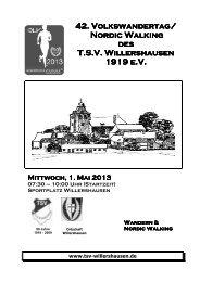 wandertag - TSV Willershausen