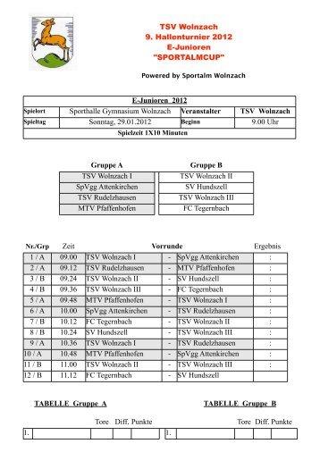 Turnierplan E (PDF) - TSV Wolnzach