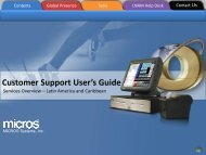 Customer Support User's Guide