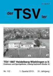 der TSVler 1/2013 - TSV 1887 Heidelberg - Wieblingen eV