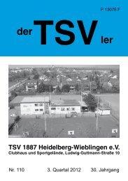 hauptvereIn - TSV 1887 Heidelberg - Wieblingen eV