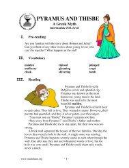PYRAMUS AND THISBE