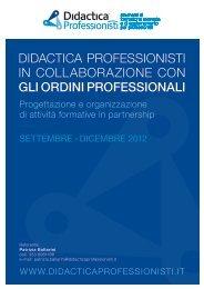 didactica professionisti in collaborazione con gli ordini professionali