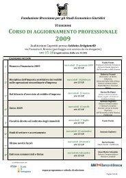 corso di aggiornamento professionale - Fondazione Italiana del ...