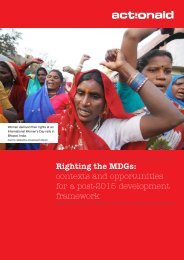 Righting the MDGs: contexts and opportunities for a post ... - ActionAid