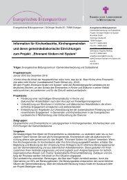 Information für Kirchenbezirke, Kirchengemeinden und ...