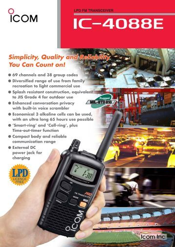 Icom Ic f621 manual