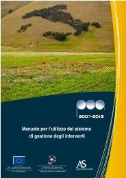 Manuale per l'utilizzo del sistema di gestione degli interventi