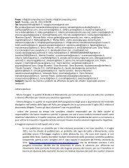 Lettera aperta a: - Marco Cavaglia', in qualita' di Sindaco di ...