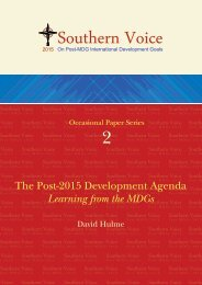 The Post-2015 Development Agenda - what comes after the MDGs?