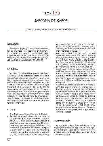 Tema 135 SARCOMA DE KAPOSI - e-dermatosis.com