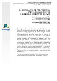 padronização de processos em uma empresa do setor ... - Abepro