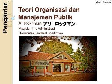 Teori Organisasi dan Manajemen Publik - Ali Rokhman