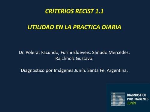 criterios recist 1.1 utilidad en la practica diaria - Congreso SORDIC