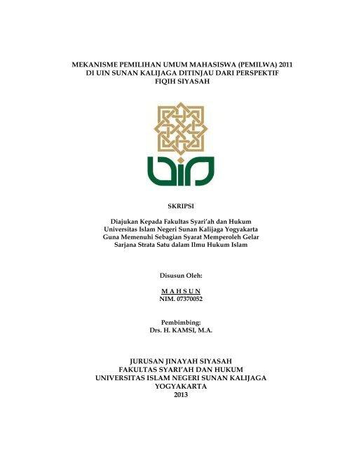 Skripsi Mahsun Digilib Uin Sunan Kalijaga Yogyakarta