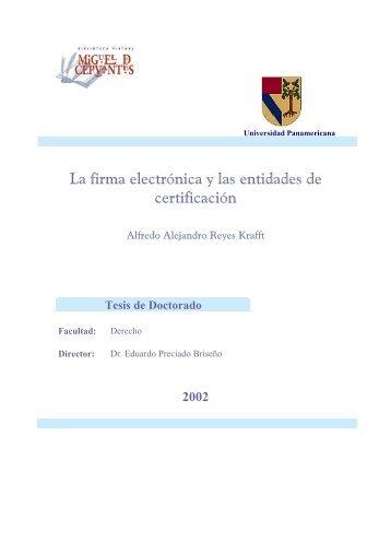 Firma Electrónica y Entidades de Certificación - Index of /prueba ...
