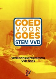 verkiezingsprogramma VVD Goes - Goed voor Goes