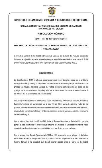 (0101) del 03 de Febrero de 2011 - Ministerio de Ambiente ...