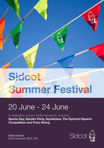 to download Sidcot Summer Festival Programme - Sidcot School