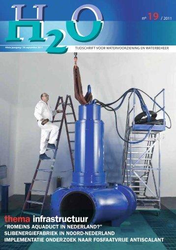 thema infrastructuur - H2O - Tijdschrift voor watervoorziening en ...