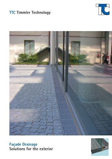 Products in use example for Exterior drainage solutions