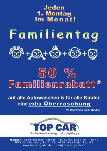 50 % Familienrabatt - Topcar-gmbh.de