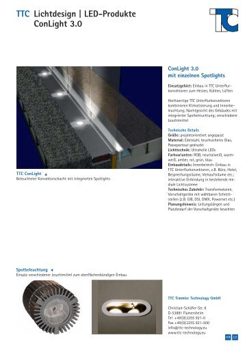 TTC Lichtdesign | LED-Produkte ConLight 3.0 - TTC Technology