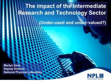The impact of the Intermediate Research and Technology Sector
