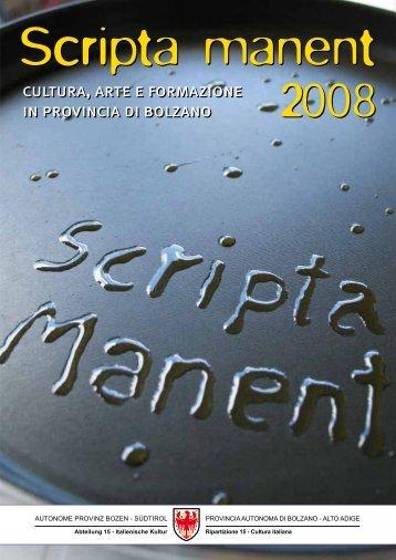 Scripta Manent 2008 - Parte 1 - Rete Civica dell'Alto Adige
