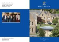 Events for parents - King's School, Bruton