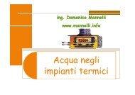 A li Acqua negli i i ti t i i impianti termici - Mannelli.info
