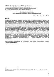 Resistencia à Rede Globo ENEC - Estudos do Consumo