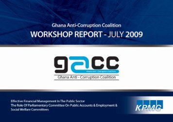 Public Accounts Committee Workshop 2009 - Ghana Anti-Corruption ...
