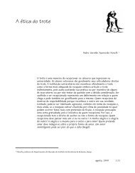 A ética do trote - Interface