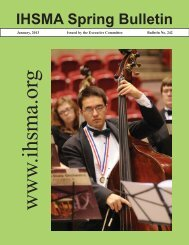 IHSMA Spring Bulletin - The Iowa High School Music Association