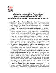 Raccomandazioni della Federazione internazionale dei giornalisti ...